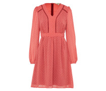 Kleid in Chiffon-Optik 'Dobby Spot' apricot