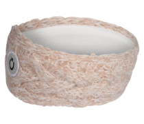Strick-Stirnband mit Zopfmuster rosa