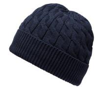 Strick-Mütze navy