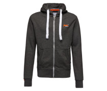 Sweatjacken 'orange Label' grau