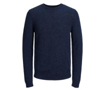Strickpullover Woll blau