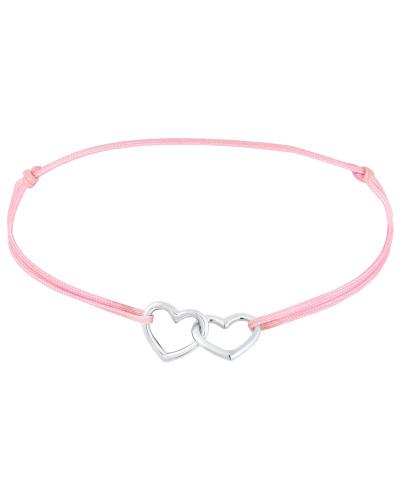 Armband 'Herz' pink / silber