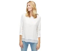 Shirt / Blouse Bluse mit Underlayer aus Chiffon weiß