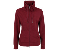 Fleece-Jacke mit großem Kragen rot