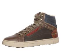 Sneaker High blau / braun / rot