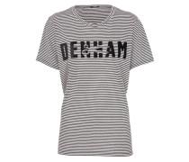 T-Shirt 'Skaeri' schwarz / weiß