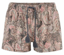 Shorts im Alloverprint mit Bindekordel
