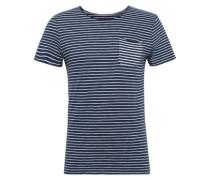 T-Shirt 'striped T-shirt' marine / weiß