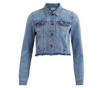 Kurze Jeansjacke blau / hellblau