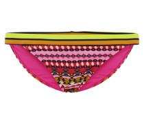 Farbenfrohes Bikini-Unterteil gelb / orange / pink / rosa