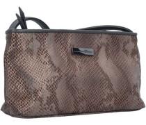 Mila Snake Tasche 24 cm bronze / grau