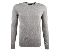 Pullover »Crewneck pull in cotton melange quality« grau