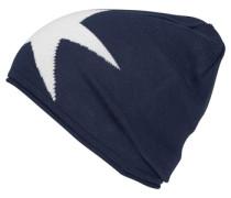 Mütze für Mädchen blau / weiß
