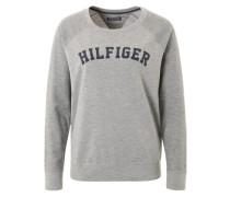 Sweatshirt mit Label-Print grau