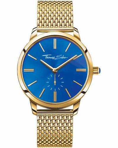 Quarzuhr 'wa0274-264-209-33 mm' blau / gold