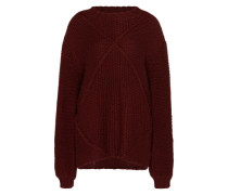 Strickpullover 'making Melody' rot