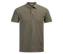 Pikee-Poloshirt grün