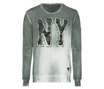 Sweatshirt 'n.y.' dunkelgrau / khaki