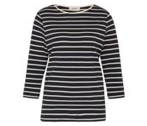 Streifen-Shirt weiß / blau