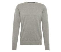 Pullover in meliertem Look grau