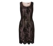 Kleid aus Spitze altrosa / schwarz