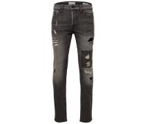 Slim Fit Jeans 'Loom dark destroy patch'