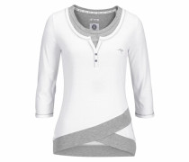 2-in-1-Shirt weiß