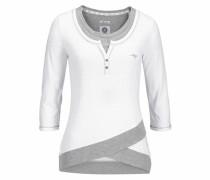 2-in-1-Shirt grau / weiß