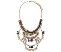 Große Detail-Halskette gold