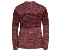 'Crusty 3' Pullover kirschrot