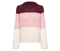 Pullover 'wine' weinrot / creme / rosé