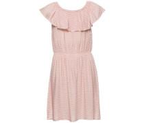 Kleid mit kurzen Ärmeln 'nitraina' rosa / weiß