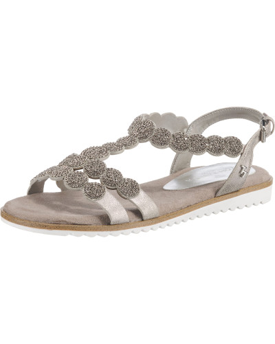 Sandalen silber / weiß