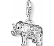 Charm-Einhänger 'Elefant 1050-041-14' schwarz / silber