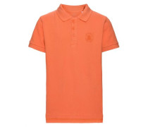 Poloshirt nitjolid kurzärmeliges orange