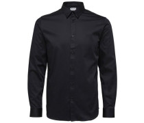 Slim-Fit Hemd schwarz