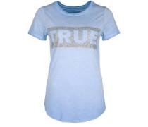 T-Shirt Boxy Crew blau