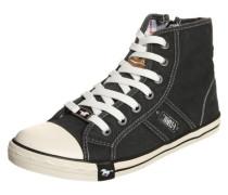Hohe Sneaker aus Canvas schwarz