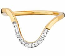 Fingerring 'fluid curves' gold