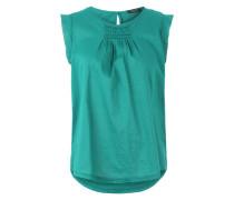 Tunika Bluse mit Raffungen smaragd