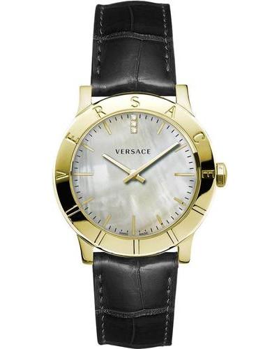 Schweizer Uhr 'Acron Vqa060017' gold / schwarz