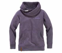 Sweatshirt mit Schalkragen lila