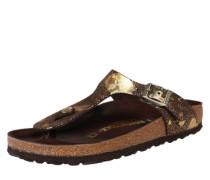 Sandale 'Gizeh' braun / gold