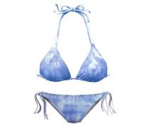 Triangel-Bikini blau