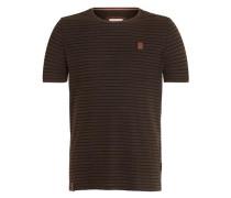 Male T-Shirt dunkelbraun / schwarz