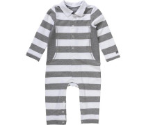 Baby Overall grau / weiß