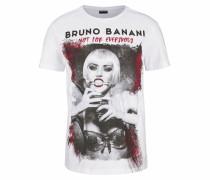 T-Shirt grau / dunkelgrau / rubinrot / weiß