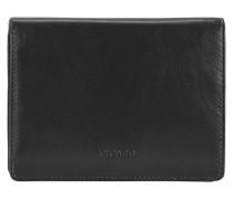 Brooklyn Geldbörse Leder 10 cm schwarz