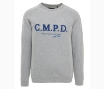 Sweatshirt grau / blau