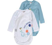 Wickelbodys Doppelpack für Jungen blau / gelb / mint / orange / weiß